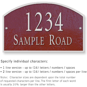 Salsbury 1321MSS Cast Aluminum Address Plaque