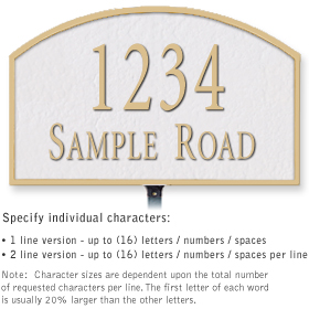 Salsbury 1321WGL Cast Aluminum Address Plaque
