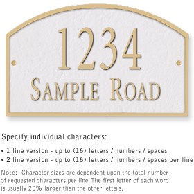 Salsbury 1321WGS Cast Aluminum Address Plaque