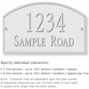 Salsbury 1321WSS Cast Aluminum Address Plaque