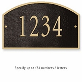 Salsbury 1320BGS Cast Aluminum Address Plaque