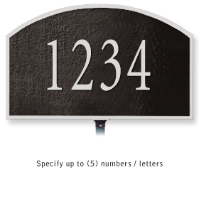 Salsbury 1320BSL Cast Aluminum Address Plaque