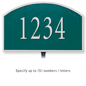 Salsbury 1320GSL Cast Aluminum Address Plaque
