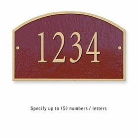 Salsbury 1320MGS Cast Aluminum Address Plaque