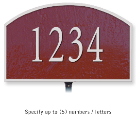 Salsbury 1320MSL Cast Aluminum Address Plaque