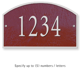 Salsbury 1320MSS Cast Aluminum Address Plaque