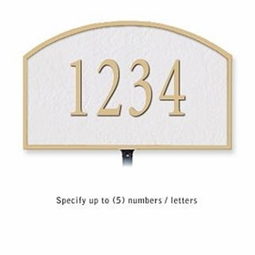 Salsbury 1320WGL Cast Aluminum Address Plaque