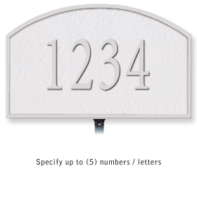 Salsbury 1320WSL Cast Aluminum Address Plaque