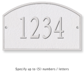 Salsbury 1320WSS Cast Aluminum Address Plaque