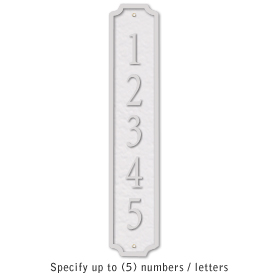 Salsbury 1370WSS Cast Aluminum Address Plaque