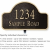 Salsbury 1340BGL Cast Aluminum Address Plaque