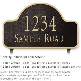 Salsbury 1342BGL Cast Aluminum Address Plaque
