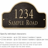 Salsbury 1342BGS Cast Aluminum Address Plaque