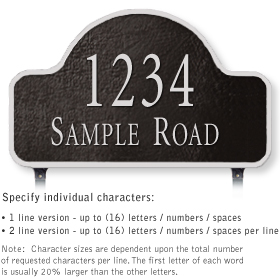 Salsbury 1342BSL Cast Aluminum Address Plaque