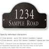 Salsbury 1342BSS Cast Aluminum Address Plaque