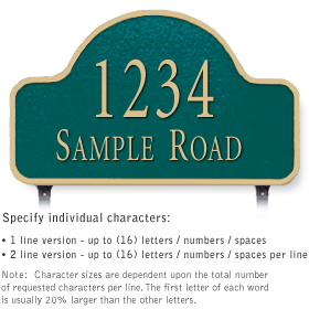 Salsbury 1342GGL Cast Aluminum Address Plaque