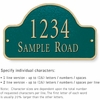 Salsbury 1342GGS Cast Aluminum Address Plaque
