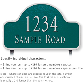 Salsbury 1342GSL Cast Aluminum Address Plaque
