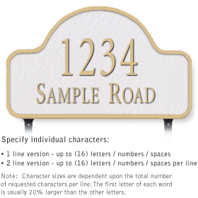 Salsbury 1342WGL Cast Aluminum Address Plaque