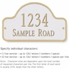 Salsbury 1342WGS Cast Aluminum Address Plaque