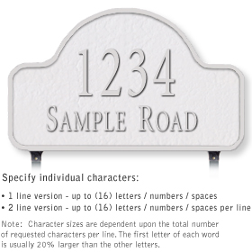 Salsbury 1342WSL Cast Aluminum Address Plaque