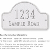 Salsbury 1342WSS Cast Aluminum Address Plaque