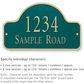 Salsbury 1341GGS Cast Aluminum Address Plaque
