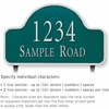 Salsbury 1341GSL Cast Aluminum Address Plaque