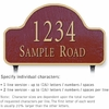 Salsbury 1341MGL Cast Aluminum Address Plaque