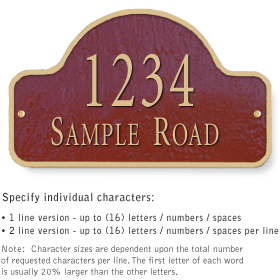Salsbury 1341MGS Cast Aluminum Address Plaque