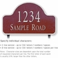 Salsbury 1341MSL Cast Aluminum Address Plaque