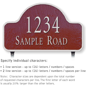 Salsbury 1341MSS Cast Aluminum Address Plaque