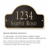 Salsbury 1340BGS Cast Aluminum Address Plaque