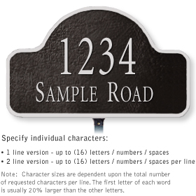Salsbury 1340BSL Cast Aluminum Address Plaque