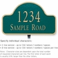 Salsbury 1340GGL Cast Aluminum Address Plaque