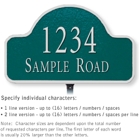 Salsbury 1340GSL Cast Aluminum Address Plaque