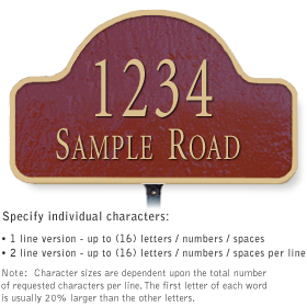 Salsbury 1340MGL Cast Aluminum Address Plaque