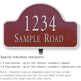 Salsbury 1340MSL Cast Aluminum Address Plaque