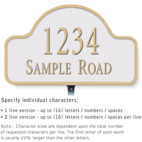 Salsbury 1340WGL Cast Aluminum Address Plaque
