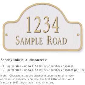 Salsbury 1340WGS Cast Aluminum Address Plaque