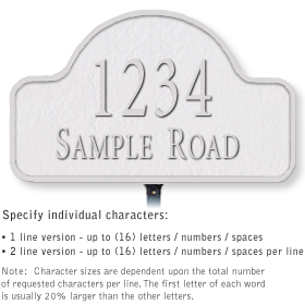 Salsbury 1340WSL Cast Aluminum Address Plaque