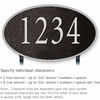 Salsbury 1332BSL Cast Aluminum Address Plaque