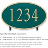 Salsbury 1332GGL Cast Aluminum Address Plaque