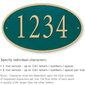 Salsbury 1332GGS Cast Aluminum Address Plaque