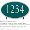 Salsbury 1332GSL Cast Aluminum Address Plaque