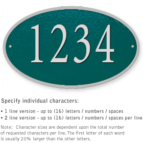 Salsbury 1332GSS Cast Aluminum Address Plaque