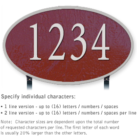 Salsbury 1332MSL Cast Aluminum Address Plaque