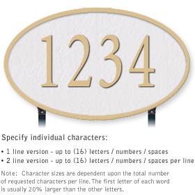 Salsbury 1332WGL Cast Aluminum Address Plaque