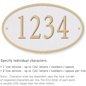 Salsbury 1332WGS Cast Aluminum Address Plaque