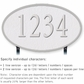 Salsbury 1332WSL Cast Aluminum Address Plaque